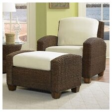 <strong>Home Styles</strong> Cabana Banana Cotton Armchair and Ottoman