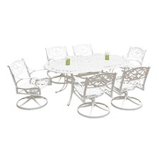 Biscayne 7 Piece Swivel Dining Set
