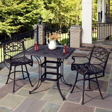 Biscayne 3 Piece Bistro Set