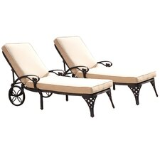 <strong>Home Styles</strong> Biscayne Chaise Lounge with Cushion (Set of 2)