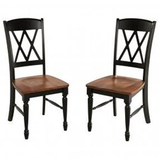 <strong>Home Styles</strong> Monarch X-Back Side Chair (Set of 2)