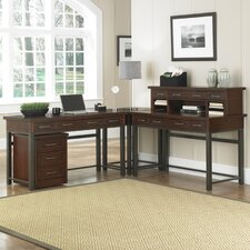 Cabin Creek L-Shape Writing Desk Office Suite