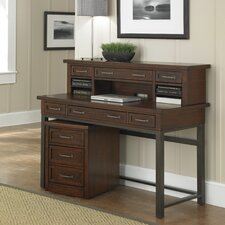 Cabin Creek Executive Desk with Hutch and Mobile File