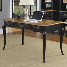 French Countryside Writing Desk in Black