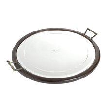 Round Mirrored Serving Tray
