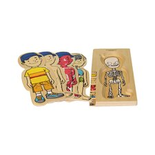 <strong>Discoveroo</strong> Wooden 5 Layer Boy Puzzle