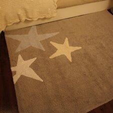 """Teppich """"Drei Sterne"""" in Dreifarbig Blau"""