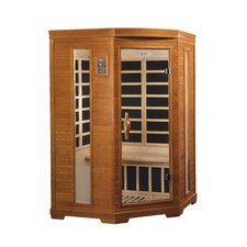 <strong>Dynamic Infrared</strong> 2 Person Corner Carbon FAR Infrared Sauna