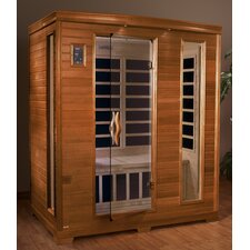 """Grand"" 3 Person Carbon Sauna / Honey Stain"