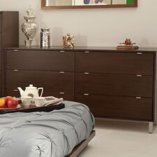 <strong>Urbangreen Furniture</strong> High Line 6 Drawer Dresser