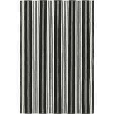 Farmhouse Stripes Black Rug