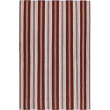 Farmhouse Stripes Red Rug