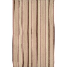 Farmhouse Tan Stripes Rug
