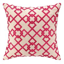 Chain Link Embroidered Decorative Pillow