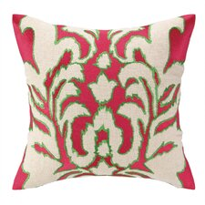 Ikat Embroidered Decorative Pillow