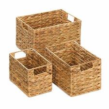 3 Piece Husk Nesting Basket Set