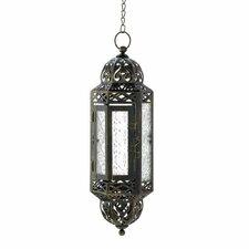 Filigree Hanging Metal Candle Lantern