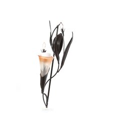 Dawn Blossom Iron, Glass and Acrylic Candle Sconce