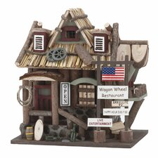 "Old Time ""Wagon Wheel Restaurant"" Birdhouse"