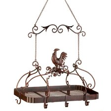 <strong>Zingz & Thingz</strong> Rooster Hanging Pot Rack