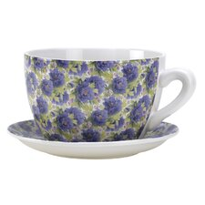 Blossom Teacup Planter in Purple