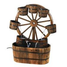 Wagon Wheel Bucket Fountain