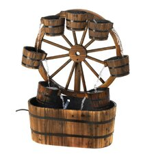 Wagon Wheel Bucket Fountain