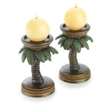 Tropical Tree Candle Holder (Set of 2)