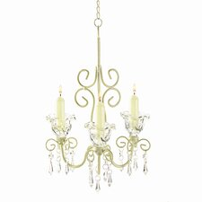 Iron and Acrylic Rococo Crystal Chandelier