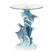 <strong>Zingz & Thingz</strong> Wave Dancers Dolphin End Table