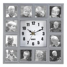Familiar Faces Photo Wall Clock