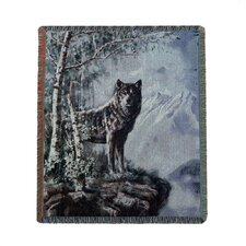 Into the Wild Wolf Polyester and Cotton  Blanket
