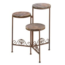 Antiqued Tri-Level Plant Stand
