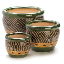 Round Pot 3 Piece Planter Set