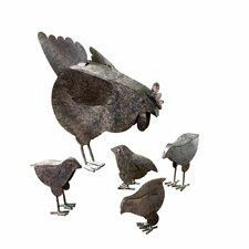Hen and Chicks Garden Statues (Set of 5)