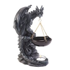 Gothic Dragon Polyresin and Glass Tealight Oil Warmer