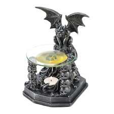Gates of Doom Polyresin and Glass Tealight Oil Warmer