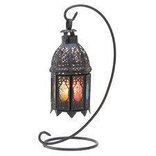 Moroccan Rainbow Iron and G lass Lantern