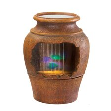 Glowing Urn Resin Tabletop Fountain