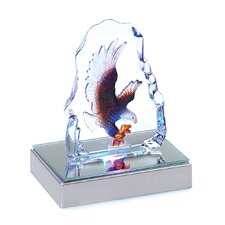Glowing Eagle Miniature Sculpture