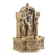 Roman Beauty Resin Tabletop Fountain