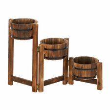 Staggered Rain Barrel Planter Stand