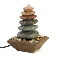 Balancing Stones Polyresin Tabletop Fountain