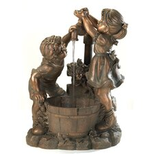 Playful Children Polyresin Fountain
