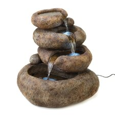 <strong>Zingz & Thingz</strong> Glowing Stones Polyresin Fountain