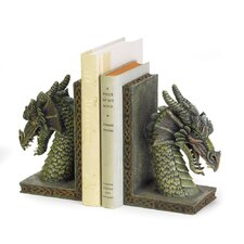 Cresting Dragon Book Ends