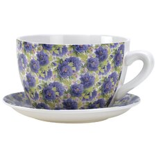 <strong>Zingz & Thingz</strong> Lavender Rose Teacup Planter