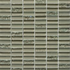 "<strong>Faber</strong> Jayda Series 12"" x 12"" Mixed Crackled Glass Mosaic in Tan"