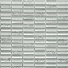 Jayda Series Mixed Crackled Glass Mosaic in Ice