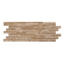 "MosaicPlus 6-1/4"" x 16"" Mesh-Mounted Marble Mosaic in Brown Beige"